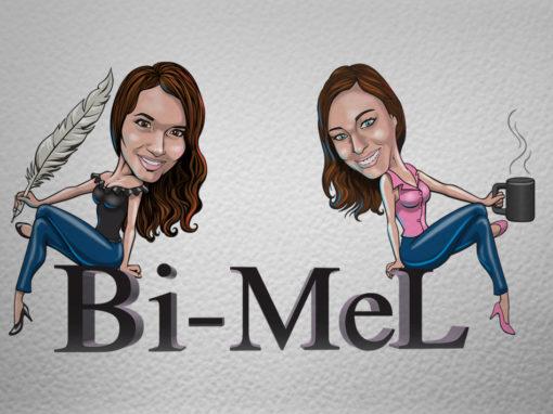 Bi-Mel Caricature Logo